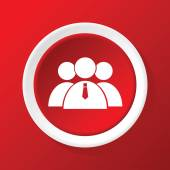 User group icon on red — Stock Vector