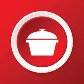 Pot icon on red — Stockvektor