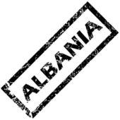 ALBANIA rubber stamp — Stock Vector