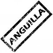 ANGUILLA rubber stamp — Stock Vector