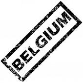Timbre en caoutchouc de belgique — Vecteur