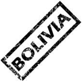BOLIVIA rubber stamp — Stock Vector
