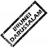 BRUNEI DARUSSALAM rubber stamp — Stockvektor