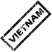 VIETNAM rubber stamp — Stock Vector