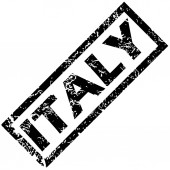 ITALY rubber stamp — Stock Vector