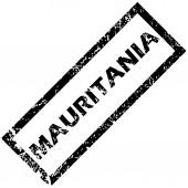 MAURITANIA rubber stamp — Vecteur