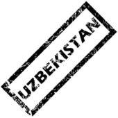 UZBEKISTAN stamp — Stock Vector