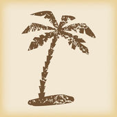 Grungy palm icon — Stock Vector