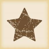 Grungy star icon — ストックベクタ