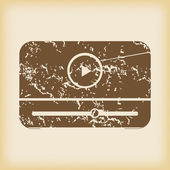 Grungy mediaplayer icon — Stock Vector