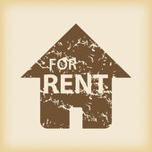 Grungy house for rent icon — Stock Vector