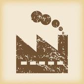 Grungy factory icon — Stock Vector