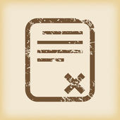 Grungy declined icon — Stock Vector