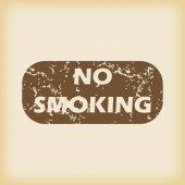 Grungy NO SMOKING icon — Stock Vector
