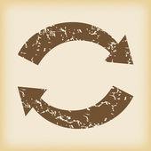 Grungy exchange icon — Stock Vector