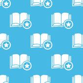 Blue favorite book pattern — Vector de stock