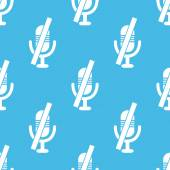 Blue muted microphone pattern — Stock Vector