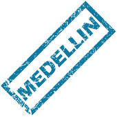 Medellin rubber stamp — Stock Vector