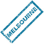 Melbourne rubber stamp — Stock Vector