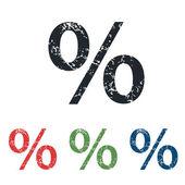 百分比 grunge 图标集 — 图库矢量图片