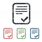 Accepted document grunge icon set — Stock Vector