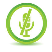 Muted microphone volumetric icon — Stock Vector
