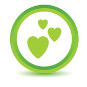 Three hearts volumetric icon — Stock Vector