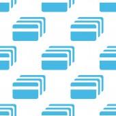 Platt kreditkort mönster — Stockvektor