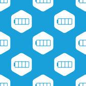 Empty battery hexagon pattern — Stock Vector