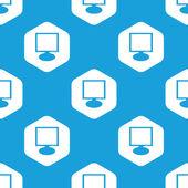 Monitor hexagon pattern — Stock Vector