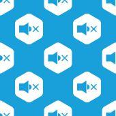 Muted sound hexagon pattern — Stock Vector