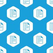 Document hexagon pattern — Stock Vector