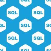 SQL hexagon pattern — Stock Vector