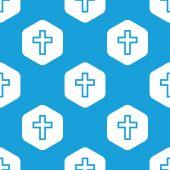 Christian cross hexagon pattern — Stock Vector
