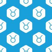 Taurus hexagon pattern — Stock Vector
