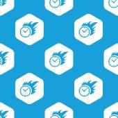 Reticolo di esagono masterizzazione orologio — Vettoriale Stock