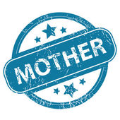 MOTHER round stamp — Stock Vector