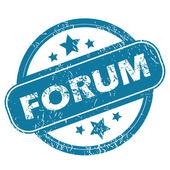 FORUM round stamp — Vector de stock