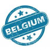 BELGIUM round stamp — Stock Vector