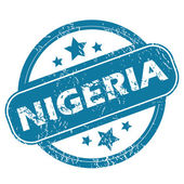 NIGERIA round stamp — Vector de stock