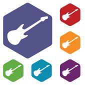 Guitar hexagon icon set — Vecteur
