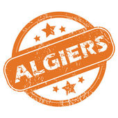 Algiers round stamp — Stock Vector
