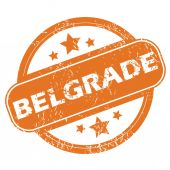 Belgrade round stamp — Stock Vector