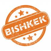 Bishkek round stamp — Stock Vector