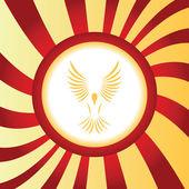 Flying bird abstract icon — Stock Vector
