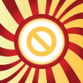 NO sign abstract icon — Stock Vector