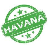 Havana green stamp — Stock Vector