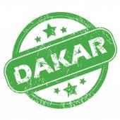 Dakar green stamp — Stockvektor