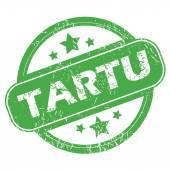 Tartu green stamp — Stock vektor