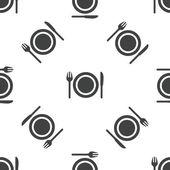 Dishware pattern — Stockvektor
